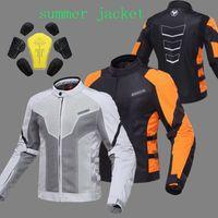 Wholesale Summer DUHAN Moto motorcycle riding reflective safety jacket motorbike Cycling men chaqueta moto dress orange Gray M L XL XXL