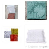 Wholesale 10pc Square Garden Path Concrete Plastic Brick Mold Paving Pavement Walkway x27x4cm Garden Buildings Accessories free shippign
