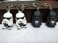 Wholesale New Star Wars Darth Vader Keychain Accessories Avengers Superman Spiderman Batman America Captain D stereoscopic silicone key ring pendant