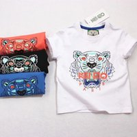 Wholesale boy summer tshirt clothes fashion style printed tiger hot sell boy top tee