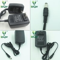 Wholesale 5pcs New Universal AC V US Plug For DC V A W Power Supply Adapter Charger For LED Strips CCTV Security Camera