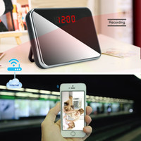 alarm clock app iphone - Free DHL x1080P HD Wifi Network R7 Spy Camera Alarm Clock Motion Activated Security DVR Support iPhone Android APP Remote Wide View