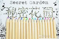 Wholesale Secret Garden coloring pencils colors Enchanted Forest Painting pens Colored pencils Writing tools colouring pencils