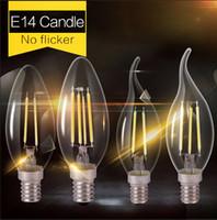 lamp saving lamp - Edison Glass Led Filament Bulb Home Lighting Led E14 Candle Energy Saving Lamp Light Led E27 COB v W W W W