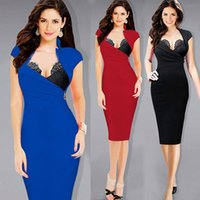 adjustable work stand - VfEmage Womens Hot Sexy Built in Lace Bra Stand Collar Adjustable Zipper Ruched Party Clubwear Club Sheath Bodycon Dress