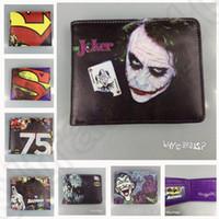 batman clutch wallet - 22 design LJJK132 DC Comics hero batman superman bifold wallet Marvel Comics LOGO collection wallets Purse Clutch Handbag Wallet