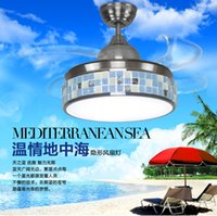 Wholesale Supply fashion led Invisible Ceiling fan lights fan lighting chandelier lamp export of dual use motor