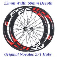 Wholesale FFWD F6r Carbon Road Bike Wheels Clincher mm Rims C Bicycle Wheelset Fast Forward Cycling Wheel With Novatec Hubs