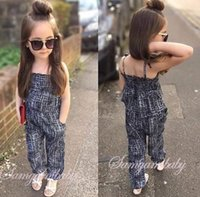 baby sling fleece - 2016 summer outfits Girls Casual Sling Clothing Sets romper baby jumpsuit cargo pants bodysuits kids clothing children Outfit