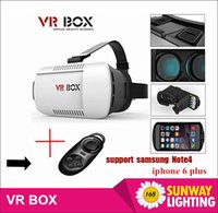 Wholesale 2016 Google cardboard VR BOX Version VR Virtual Reality Glasses Smart Bluetooth Wireless Mouse Remote Control Gamepad