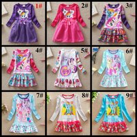 american brand tires - Spring autumn children clothes long sleeve my little pony cute baby girl s dress kids veil tired tutu skirts girls clothing