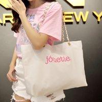 Wholesale Top Quality Letter Canvas Shopping Bag Fashion Tote Casual Handbag Travel Eco Recycle Bag Shoulder Bag Bolsas Shopping bag B04