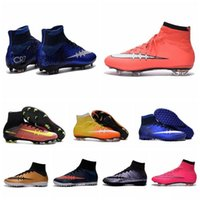 Wholesale Cheap Kids Soccer Sneakers Cristiano Ronaldo CR7 Mens Mercurial Superfly FG Football Boots Women Soccer Cleats Outdoor Shoes Botas De Futbol
