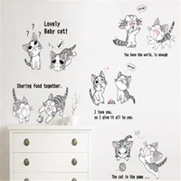 art units - 10 Units Cute Cats Animal Wall Stickers for Kids Rooms Living Room Home Decor Wall Decor Mural Art
