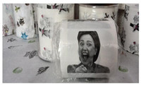 Wholesale Paper Hillary Clinton Donald Trump Barack Obama Toilet Paper Novelty Funny Toilet Paper Gag Gift TOP1356