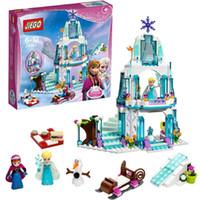 Wholesale 2016 New Girls Frozen Princess elsa anna Castle Princess Anna Olaf Set Model Building Blocks Gifts Toys Childrne Gift JG301