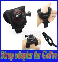 Wholesale Wrist Hand Strap Mount Adjustable Degree For Gopro Hero Xiaomi yi Action Sport Camera Accessories