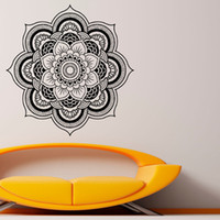 abstract lotus flower - Mandalas Flower Wall Stickers Home Decor Vinyl Art Wall Decal Home Stickers Indian Lotus Removable