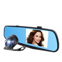 Wholesale HD Car DVR Rearview mirror vehicle traveling data recorder parking monitoring camera
