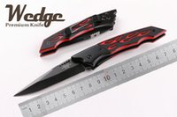 beauty wedging - WEDGE Benchmade Fire Beauty Butterfly OEM EDC Folding Pocket knife CR13 Black Blade RED FIRE Flame G10 Handle Jackknife Best Gift Knives