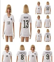 Wholesale AAA Good Quality Season USA Women s Soccer Jerseys Uniform Football Jerseys Embroidery Logo DEMPSEY O REILLY LLOYD MORGAN