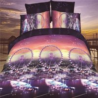 aqua hand cream - Ferris wheels Night Scene Printing Polyester D Duvet Cover Sets Piece Bedding Sets Duvet Cover Bed Sheet Pillow Case