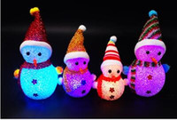 Wholesale Lovely Snowman Night Light Lamp Color Changing LED Night Light baby toys