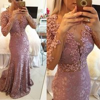 bamboo flooring photos - 2016 New Real Photo Pink Mermaid Prom Gowns Crystal Custom Made Long Lace Formal Evening Dresses With Long Sleeves Plus Size