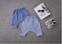 Wholesale 2016 summer new children s thin denim shorts toddles boy s girl s baggy harem denim shorts