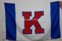 big banners - University of Kansas Jayhawks NCAA Big Twelve Conference Flag Hot Sell Goods X5FT X90CM Banner brass metal holes KJ03