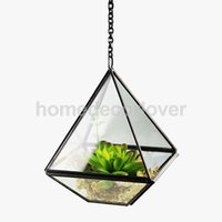 Wholesale Glass Terrarium Miniature Garden Greenhouse cm Hanging Diamond shaped