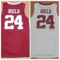 Wholesale 2016 New Buddy Hield University Jersey good Quality Men s red white Jerseys Size S XXL mixed orders