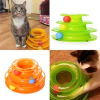 amusement rides - Three Levels Tower Tracks Disc Cat Pet Toy Intelligence Amusement Rides Shelf