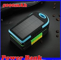 Wholesale NEW mAh USB Port Solar Power Bank Charger External Backup Battery With Retail Box For iPhone iPad Samsung Phone