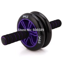 Wholesale body building fitness double wheeled Ab rollers x14x10 cm pvc wheel