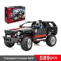 assembled model cars - Land Cruiser LC200 decool Original Blocks brain game SUV Assembling toys self locking bricks Car model Hummer