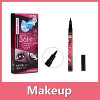 Wholesale 2016 New H Waterproof Liquid Black Eyeliner Pencil Skid Resistant Eye liner Pen For Cosmetic Makeup Home Use Quality