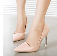 Wholesale Crystal heels wedding shoes for women prom dresses shoes hgh heels nude hot pink size to