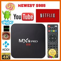 Wholesale Original MXQ Pro Android Digital TV Streaming Box Amlogic S905 Android Quad Core Rom GB GB H KODI with Remote