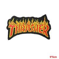 badge shirt - THRASHER Flame Skate Iron Sew On Skater Punk Shirt Applique Badge Patch