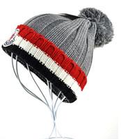 al por mayor la moda de esquí-Moda Otoño Invierno sombreros para las mujeres BEANIES de punto ocasional de los hombres casquillo que hace punto de esquí Gorros Hip-Hop capó envío libre gr negro MON skullies