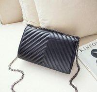 Cheap 2017 Hot Sale Women Diamond Lattice Chains Bags Designer Handbags Wallets For Women Fashion PU Leather Chain Bag Shoulder Bags