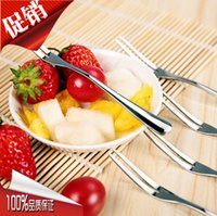 Wholesale Hot Stainless Steel Kitchenware Cutlery Fruit Forks for Restaurant Cafeteria Home Party salad Dessert Flatware