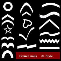 achat en gros de décalcomanies gel à ongles-1000pcs autocollants à ongles français Autocollants 3D pour ongles Autocollants à ongles en bois poilish 24 style