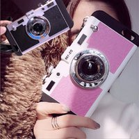 3d pc camera - Hot Sale Creative D Camera phone cover Of PC Silicone Korean Style phone case with lanyard For Iphone SE S plus