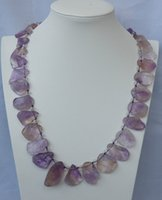 ametrine necklace - natural ametrine rough Top drilled necklace