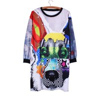 batwing dress pattern - Hound pattern casual women dresses Fashion hip hop lady Autumn clothes long sleeve Plus size girls vestido mixed order factotry