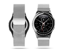 20MM Milanese Boucle magnétique pour l'aimant en métal bracelet en acier Band Samsung Gear S2 Classique Bracelet inoxydable Avec Spring Bar