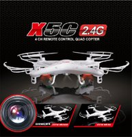 Wholesale SYMA X5C RC Drone X5C GHz CH Real Time HD FPV Camera RC Helicopter Drones Axis Quadcopter Gyro MP Camera gb card