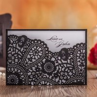 Wholesale New Pattern Flower Wedding Invitations Laser Cut Birthday Invitation Cards Party Favors Event Supplies Convite Casamento